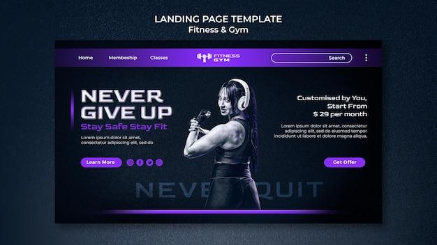Modelo da web de fitness de academia