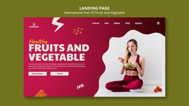 Modelo da web de frutas e vegetais para ano