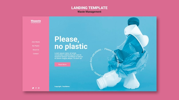 Modelo da web de gerenciamento de resíduos