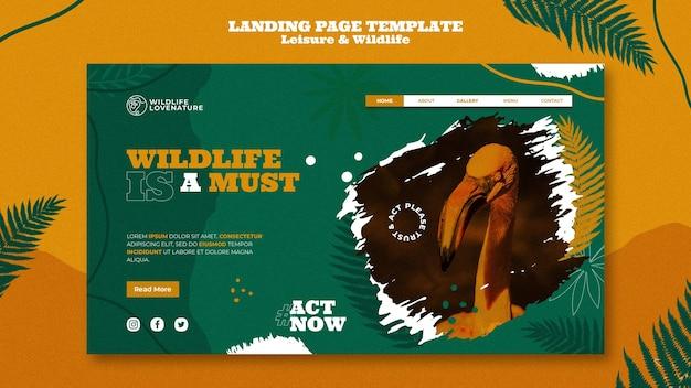 Modelo da web de lazer e vida selvagem