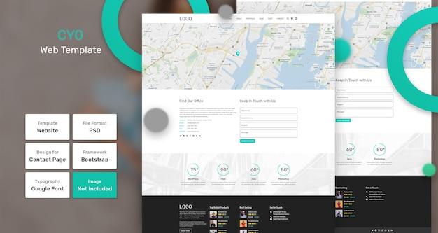 Modelo da web de negócios cyo