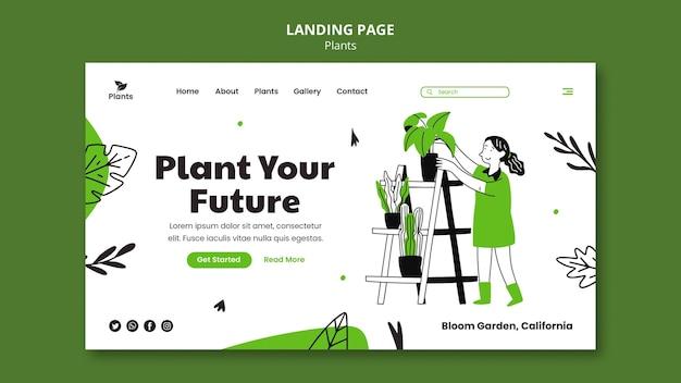 Modelo da web de passatempo de jardinagem