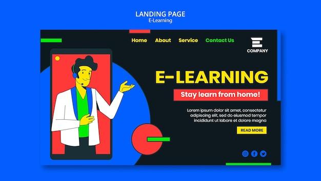 Modelo da web de plataforma de e-learning