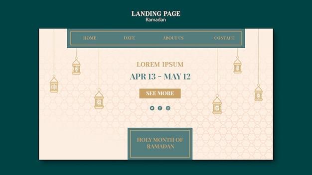 Modelo da web de ramadã com elementos desenhados