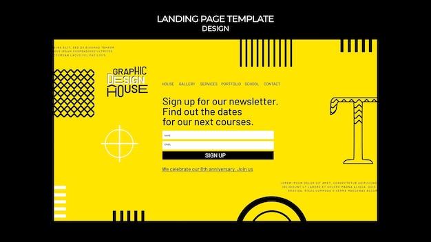 Modelo da web de serviços de design gráfico