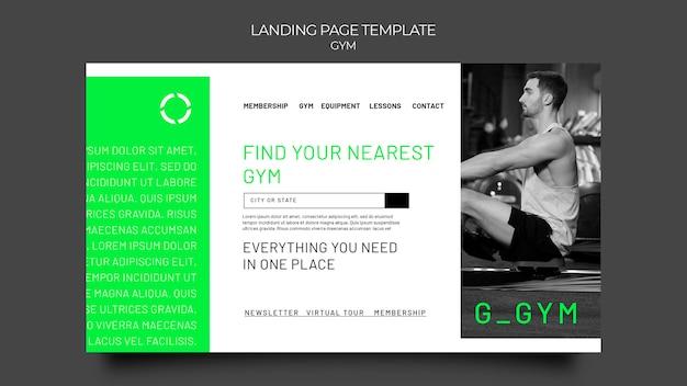 Modelo da web de treinamento de ginástica