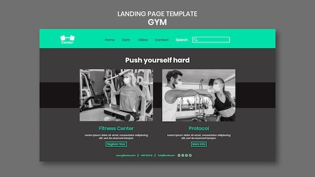 Modelo da web de treino de ginástica