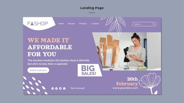 Modelo da web de vendas de moda