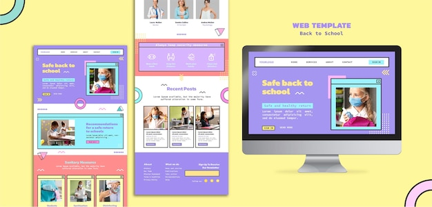 Modelo da web de volta às aulas