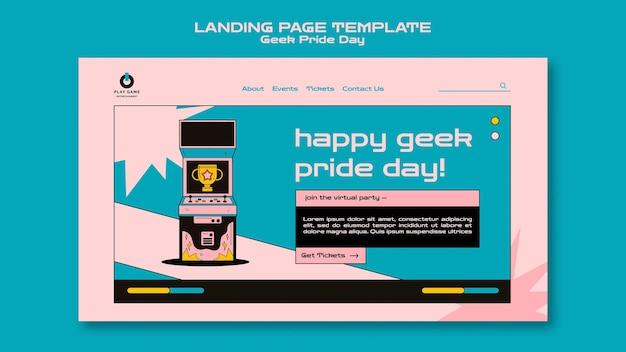 Modelo da web do dia do orgulho geek