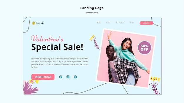 Modelo da web do dia dos namorados com foto