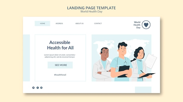 Modelo da web do dia mundial da saúde