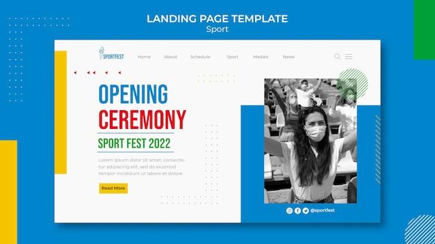 Modelo da web do festival de esportes
