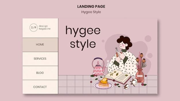 Modelo da web estilo hygge
