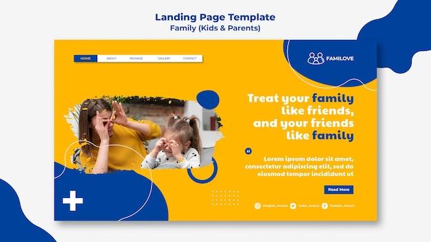 Modelo da web familiar com foto
