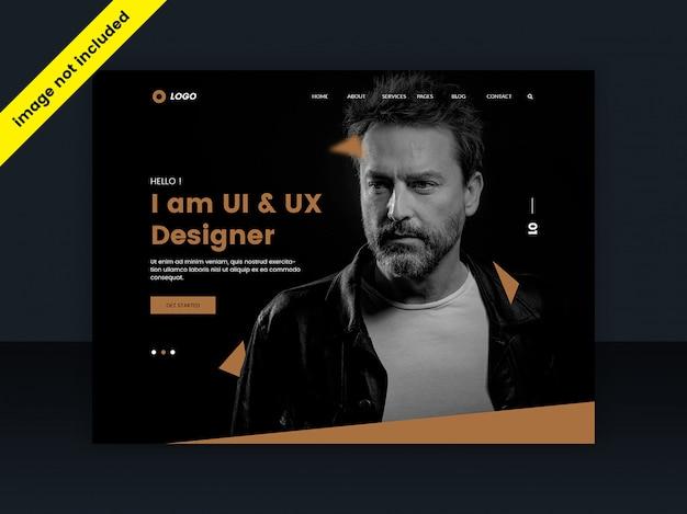 Modelo da web ou página de destino para web designers