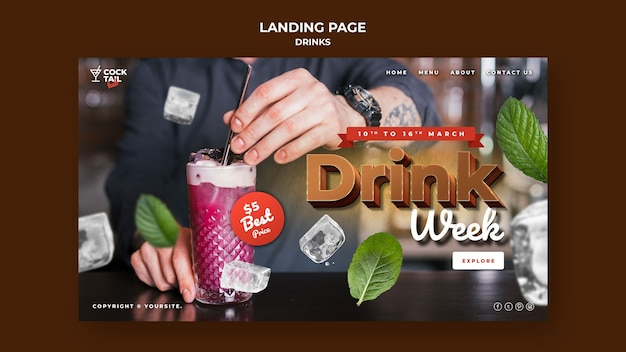 Modelo da web para a semana da bebida
