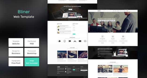 Modelo da web para agência e negócios bliner