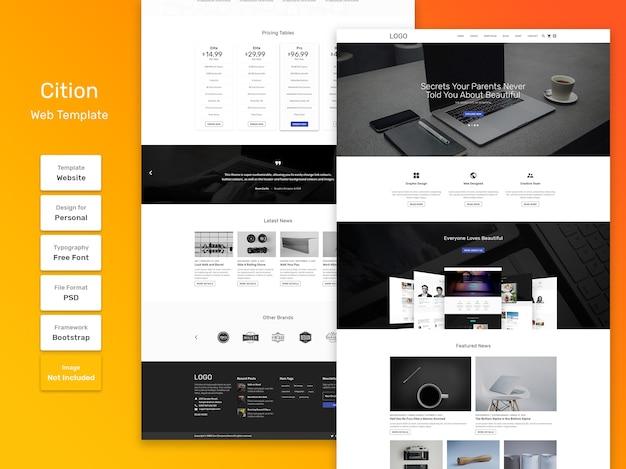 Modelo da web para agências e negócios da cition