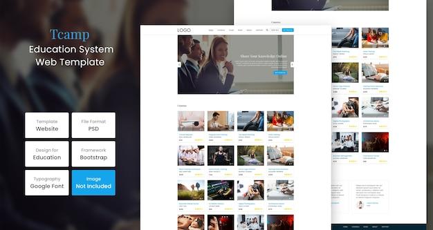 Modelo da web para educação tcamp