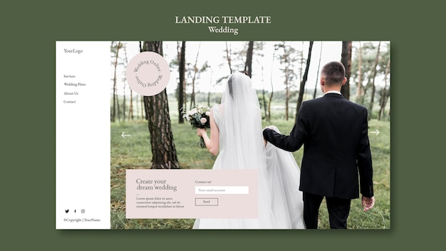 Modelo da web para eventos de casamento
