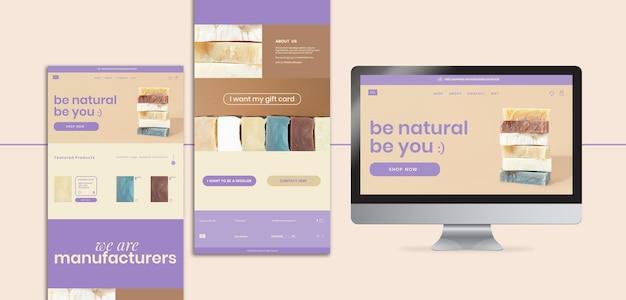 Modelo da web para loja de sabonete artesanal