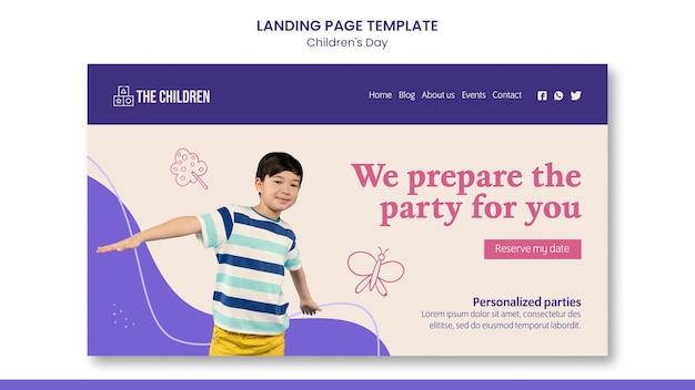 Modelo da web para o dia das crianças fofas