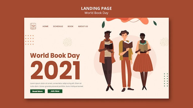Modelo da web para o dia mundial do livro