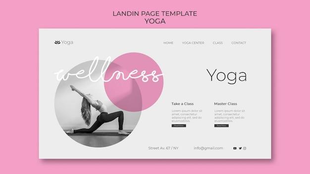 Modelo da web para página de destino de ioga