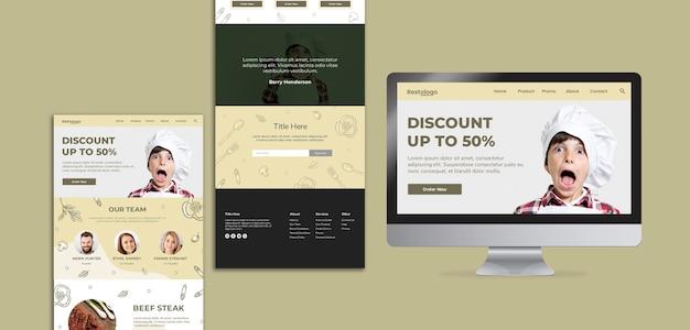 Modelo da web para restaurante