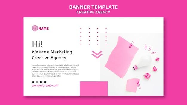 Modelo de agência de criação de banner