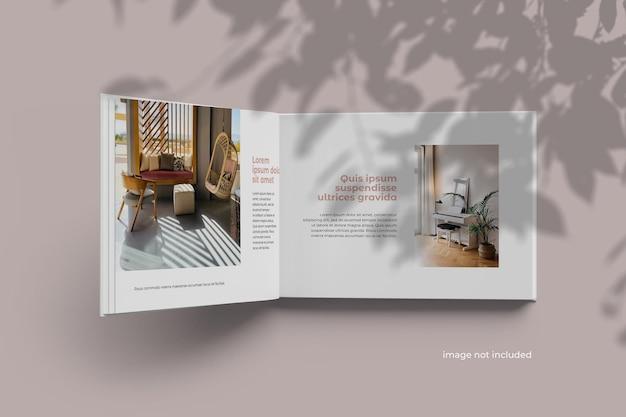 Modelo de álbum de livro de paisagem