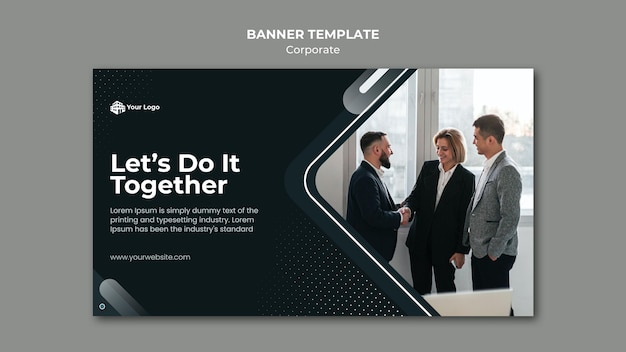 Modelo de anúncio corporativo em banner