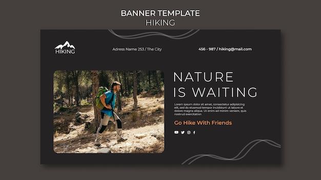 Modelo de anúncio de banner de caminhada
