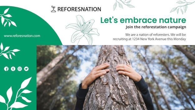 Modelo de anúncio de banner de reflorestamento