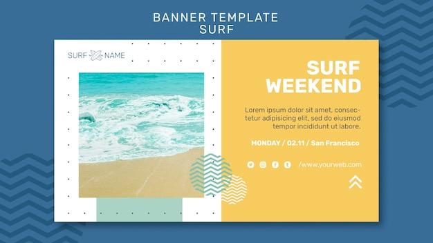 Modelo de anúncio de banner de surf