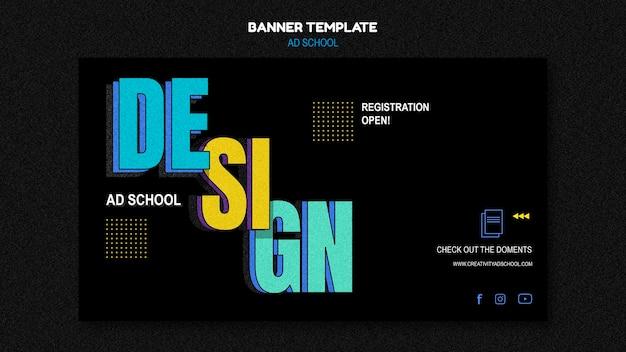 Modelo de anúncio de banner para escola