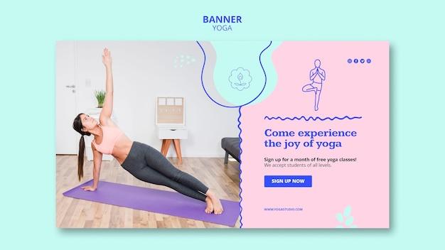 Modelo de anúncio de banner para ioga