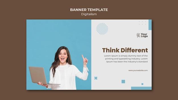 Modelo de anúncio de banner para negócios