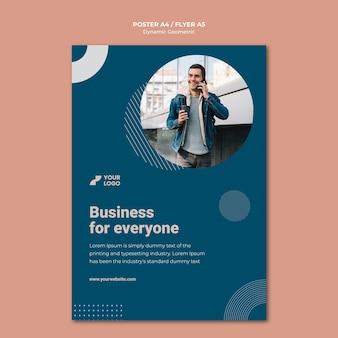 Modelo de anúncio de cartaz de negócios