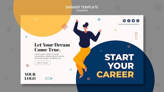 Modelo de anúncio de contratação de banner