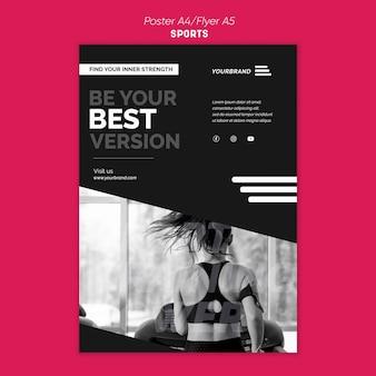 Modelo de anúncio de esportes em panfleto