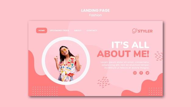 Modelo de anúncio de moda para página de destino