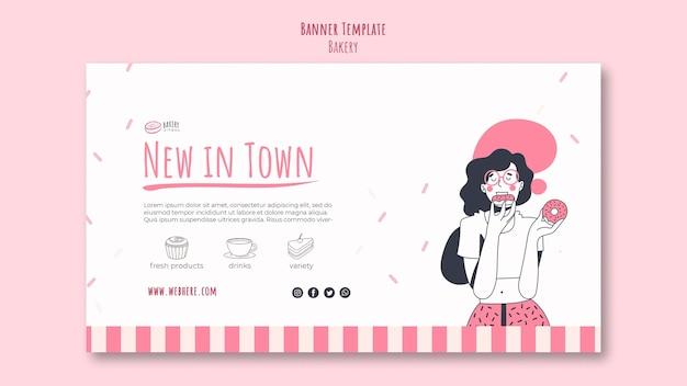 Modelo de anúncio de padaria em banner