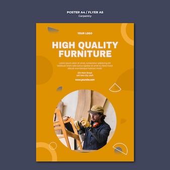 Modelo de anúncio de panfleto carpinteiro