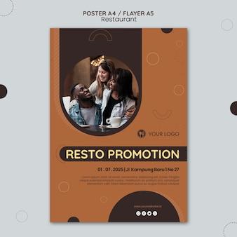 Modelo de anúncio de restaurante de pôster