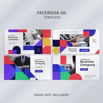 Modelo de anúncio empresarial do facebook
