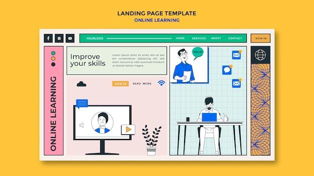 Modelo de aprendizagem online da página de destino
