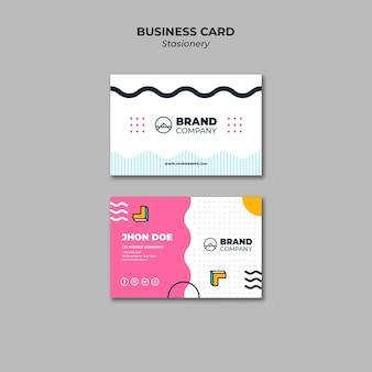 Modelo de apresentação de cartão de visita design de memphis