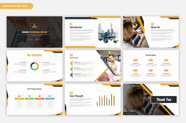 Modelo de apresentação de negócios e projetos corporativos